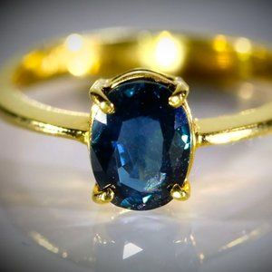 Royal Blue Sapphire 2.11ct Solid 22K Gold Ring
